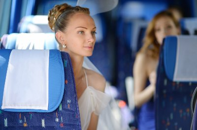 Luxury and Executive minibus and coach hire with driver for wedding
